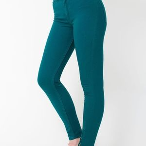 American Apparel Stretch High-Waist zipper pants
